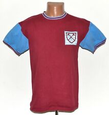 WEST HAM UNITED 1960'S HOME FOOTBALL SHIRT JERSEY SCORE DRAW SIZE M #6 MOORE