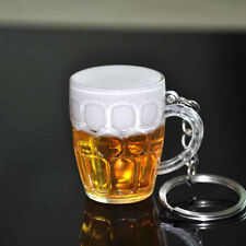 Hot Resin Beer Cup Keyfob Handicraft Key Chain For Car Bag Keyrings Jewelry Gift