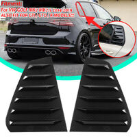 Carbon Look Side Window Louvers Sun Shade Cover For VW GOLF MK7 MK7.5 2014-19