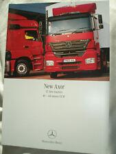 Mercedes Axor 12 litre Tractors 40-44 tonnes truck range brochure May 2005