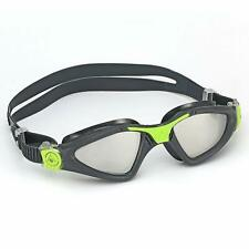 Aqua Sphere Unisex Adult Kayenne Swimming Goggles, Mirror Lens/Grey Lime