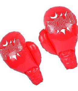 Aufblasbare Boxhandschuhe Rote Riesenboxhandschuhe Kostüm Fasching Karneval Paar