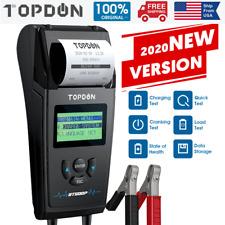 12V&24V 100-1700 CCA Car Battery Load Tester Cranking Charging System Analyzer