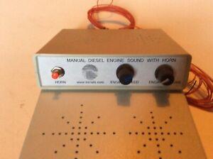N Gauge,OOScale Manuel Diesel Engine Sound Box,unit With Horn