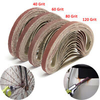 40Pc 40/60/80/120Grit Sanding Belts For Long Reach Air Sanders Grinding 10x300mm