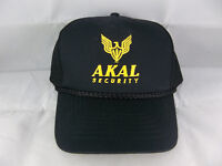 Vintage K.C. Akal Security Black Corded Mesh Hat