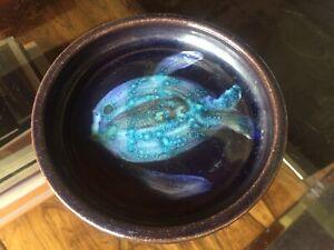 Vintage North Devon Pottery Small Fish Bowl / Dish