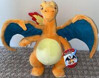 "🐉 Pokemon Charizard Genuine Large 12"" Plush Super Soft Wicked Cool Toys NWTG 🐉"