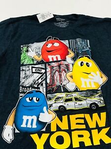M&M S' WORLD NEWYORK  CITY GRAPHIC   T-SHIRT-CHARCOAL  - ADULT SMALL