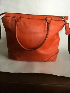 Kate Spade Pebble Leather Orange Tote