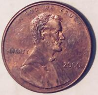 "2000  WIDE LETTER VARIETY ""LIBERTY""  LINCOLN CENT (MAJOR ERROR) NICE COIN  #236"