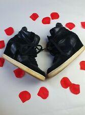 Ash Cool Negro Cuero Cuña Zapatillas Limited Edition 6 39