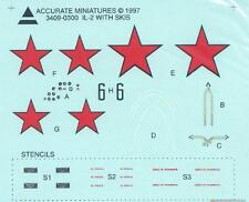 1:48 Accurate Miniatures Decals 3409 x - IL-2 Stormovik with Skis