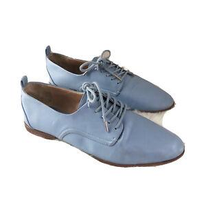 Zara Blue Lace Up Oxford Shoes Sz 8.5 Sz 39 EU