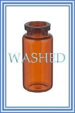 PRE-WASHED 10mL Amber Serum Vials Case of 756