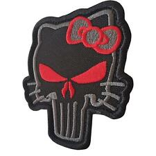 punisher skull hello kitty morale subdued ACU ECWCS parche sew iron on patch