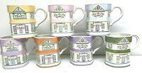 7 Lenox 1992 Porcelain SPICE VILLAGE Cafe Coffee Tea Mugs Victorian Houses