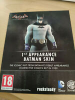 Batman: Arkham Knight 1st Appearance Batman Skin *DLC* Code PS4