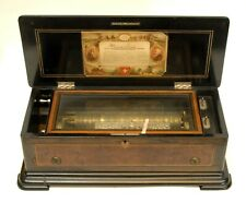 """Antique Swiss 11"""" Cylinder 6 Tune Music Box, Nice - From Estate"""