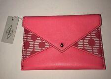 Women's Fossil Pink Sofia Envelope Wallet/Passport/Coupon/Clutch/CC's SWL1703664