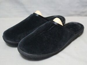 ISOTONER SECRET SOLE women's slip on flats black fabric slippers size 9.5 Medium