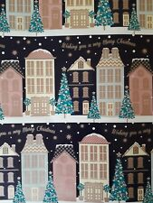 Christmas Wrapping Paper Merry Christmas Winter Street white winter 2 Sheets