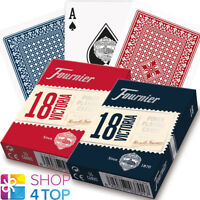 2 DECKS FOURNIER 18 VICTORIA PLASTIC COATED POKER PLAYING CARDS RED BLUE NEW
