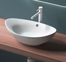 Aufsatzwaschbecken Waschbecken Oval Waschtisch Waschschale aus Keramik NANO 59cm