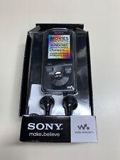 NIB Sony Walkman NWZ-E384 Black (8GB) Digital Media Player MP3 Player & FM Radio