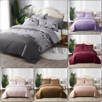 Lace Embroidered Bedding Sets Bed Duvet Cover Bed Sheet Pillowcase US/EU/AU Size