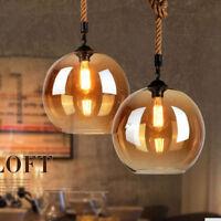 Vintage Industrial Retro Loft Glass Bar Lamp Shade Pendant Ceiling Light