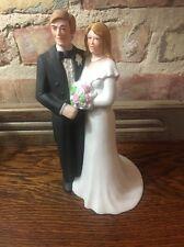 "8"" Ceramic-Porcelain Bride and Groom Figurine Wedding Cake Topper-CUTE"