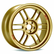 "17"" ENKEI RPF1 GOLD  17X9.5 +38 5X100 FITS: SUBARU BRZ WRX (4 NEW WHEELS)"