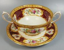 Royal albert lady hamilton crème Soupe Coupe/Tasse et soucoupe (PARFAIT)