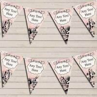 Mad Hatters Tea Party Alice In Wonderland Vintage Pink Birthday Bunting