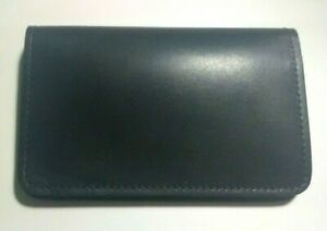 Genuine Leather Top Stub Checkbook Cover - Made in The USA - Black