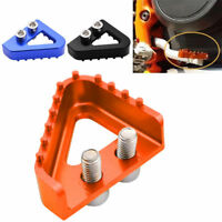 CNC Motorcycle Rear Brake Pedal Step Plate Tip For 690 950 990 125-530cc