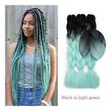 """24"""" Jumbo Thick Hair Extensions Ombre Braiding Hair Straight Braids For Human"""