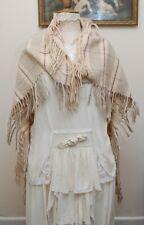 "Antique Victorian Pure Welsh Wool Shoulder Shawl 41"" x 41"""