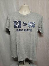 Duke University > North Carolina Tar Heels Basic Math Adult Medium Gray TShirt