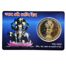 Shani Yantra Sani Yantra Saturn Yantram With Gold Plated Coin Energized