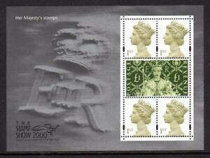 2000 GB HER MAJESTY'S STAMPS Miniature Sheet Stamp Show Queens MS2147 MNH UMM