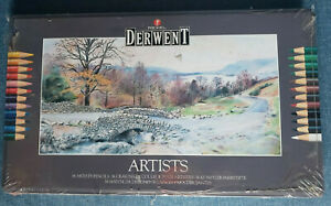 Derwent 36 Artists Pencils New/Unused In Old Original Tin box