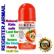 Pearl's roll on lotion Mosquito Insect Bug Repellent Natural No Deet Kids Safe