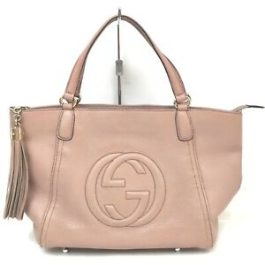Gucci Hand Bag  Pinks Leather 712171