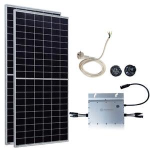 740 Watt Photovoltaik Mini-Solaranlage Plug & Play Komplett Set ( 1-Phasig )