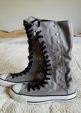 New Converse Chuck Taylor X HI High Top Tall Boots Knee Gray Women's 6 Grey Goth