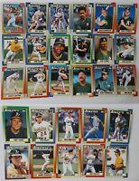 1990 Topps Oakland Athletics A'S Team Set of 28 Baseball Cards