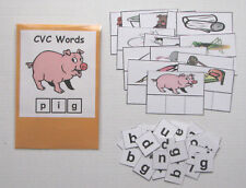 Teacher Made Literacy Center Educational Resource Game CVC Words