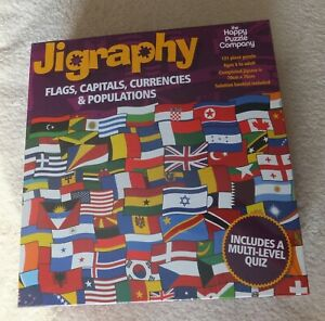 Flags, Capitals Currencies and Populations - Jigraphy Puzzle - Jigsaw